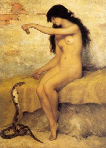 nude-snake-charmer-by-paul-trouillebert
